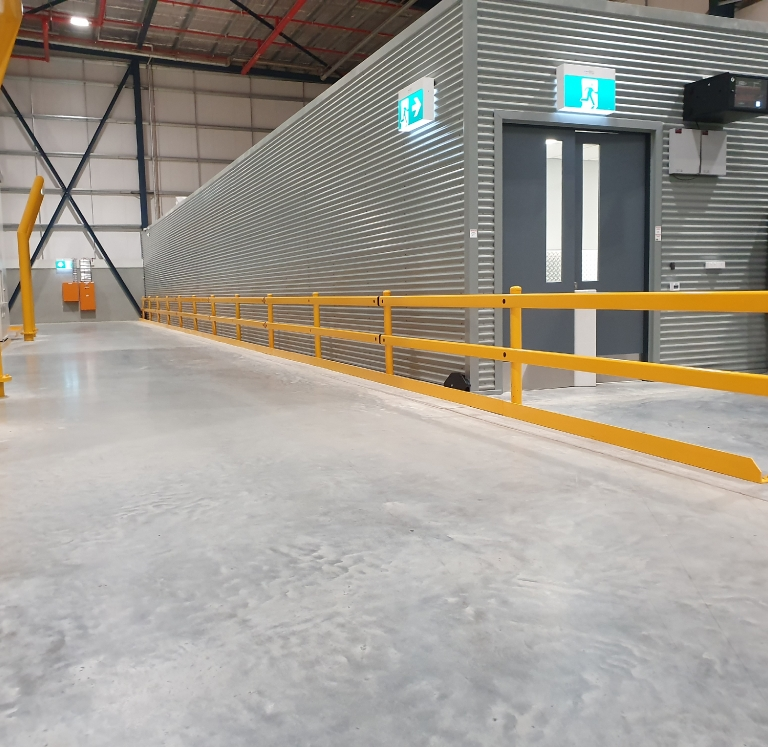 DHL Kemps Creek Pallet Safety Angle and Defender Rail